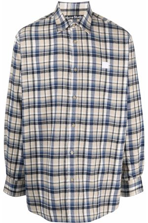Acne Studios Plaid flannel shirt - Neutrals