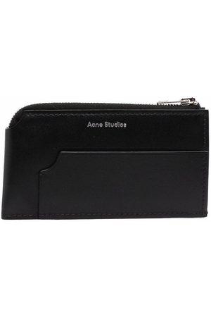 Acne Studios Logo leather zip-up wallet