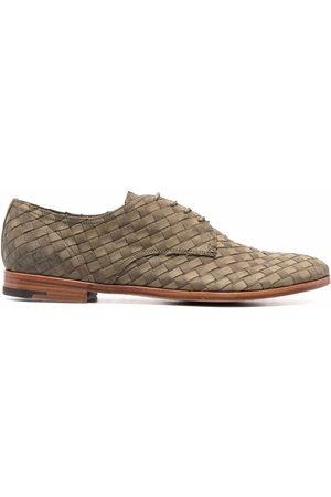 Premiata Men Formal Shoes - Interwoven-design derby shoes