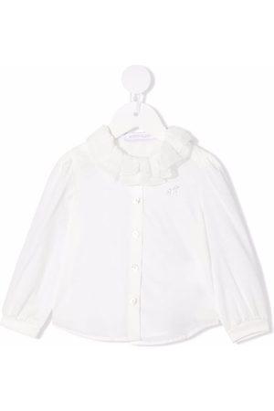 MONNALISA Baby Blouses - Logo-embellished ruffled blouse