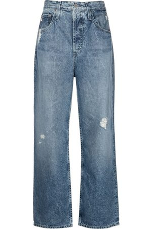AG Jeans Knoxx high-rise wide-leg jeans