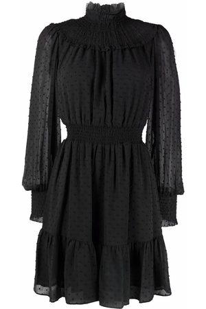 Michael Kors Swiss-dot smocked dress