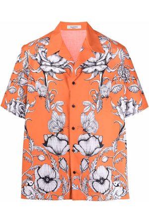 VALENTINO Men Short sleeves - Floral-print short-sleeve shirt