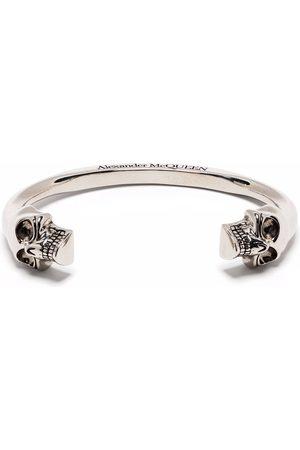 Alexander McQueen Men Bracelets - Double skull cuff