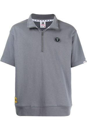 AAPE BY A BATHING APE Men Sweatshirts - Zipped short-sleeve sweatshirt - Grey