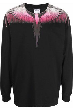 MARCELO BURLON Men Sweatshirts - Wings-print cotton sweatshirt