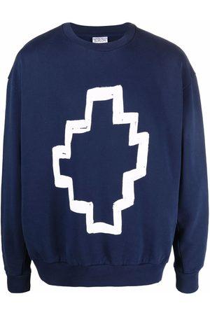 Marcelo Burlon County of Milan Men Sweatshirts - Tempera cotton sweatshirt