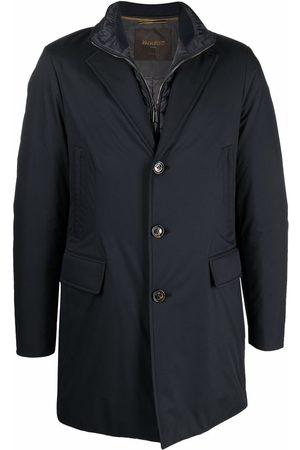 MOORER Men Coats - Layered button-front coat