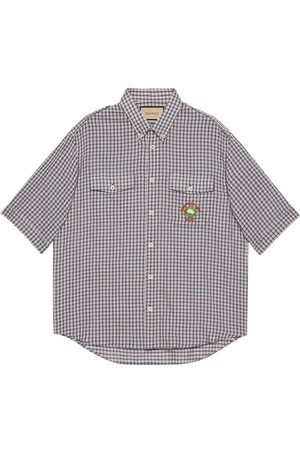 Gucci Check-print cotton shirt