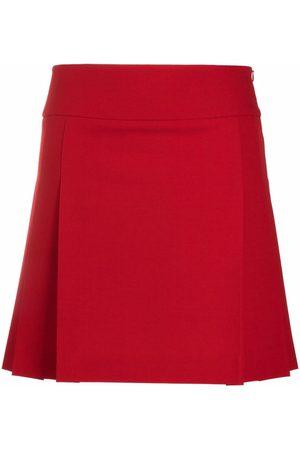 Moschino High-waisted pleated mini skirt