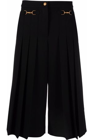 Boutique Moschino Equestrain-detail pleated culottes