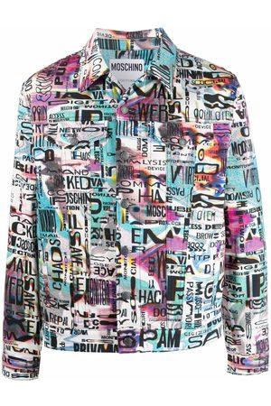 Moschino Glitch-print denim jacket