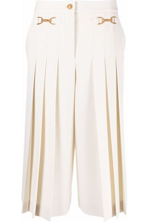 Moschino Pleated-detail culottes - Neutrals