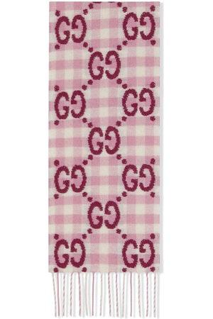 Gucci GG check wool scarf