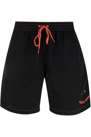 PAUL SMITH Logo-embroidered swim shorts