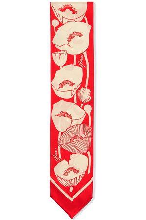 Gucci Poppy-print silk scarf