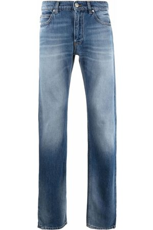 VERSACE Faded-effect straight-leg jeans