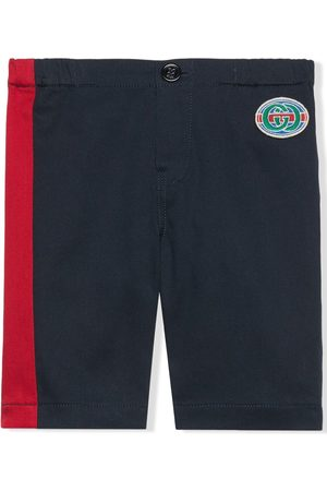 Gucci Vintage Gucci logo patch chino trousers