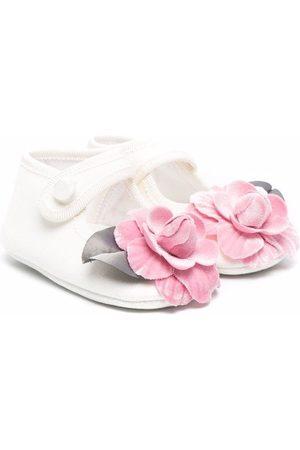 MONNALISA Floral-applique ballerina shoes