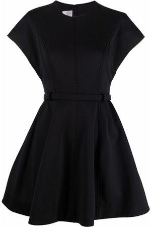 Valentino Belted VLogo A-line dress