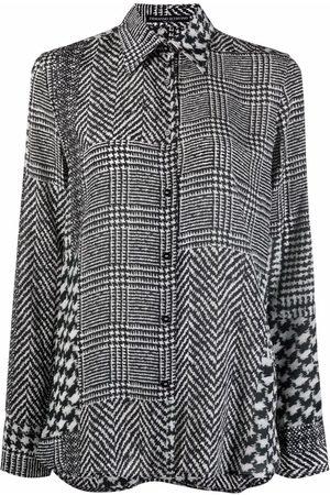 Ermanno Scervino Mixed-herringbone silk shirt