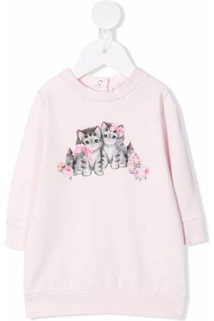 MONNALISA Kitten-print sweatshirt