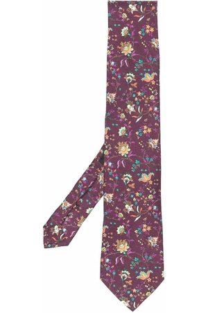 Etro Men Bow Ties - Floral-print silk tie