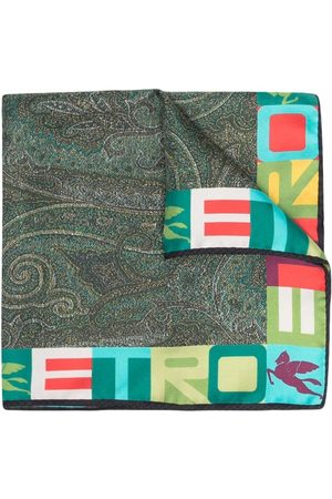 Etro Men Scarves - Paisley-print silk scarf