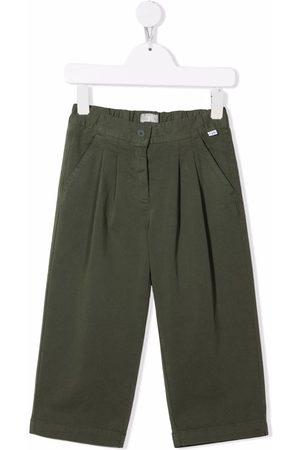 Il Gufo Box-pleat straight-leg trousers