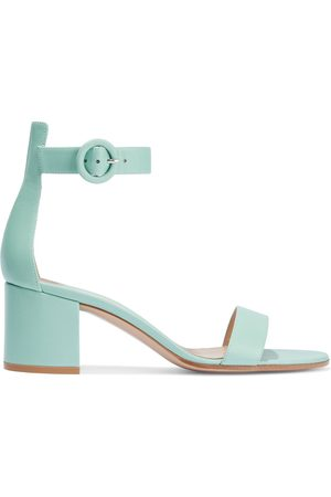 Gianvito Rossi Women Heeled Sandals - Woman Versilia 60 Leather Sandals Mint Size 35.5