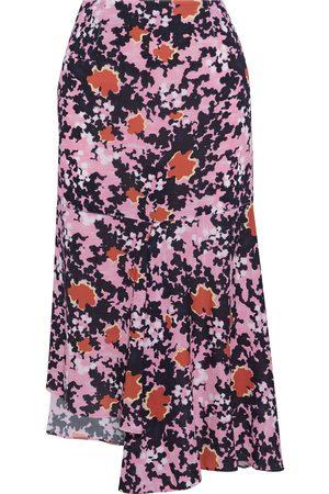 Marni Woman Asymmetric Printed Crepe Midi Skirt Size 38