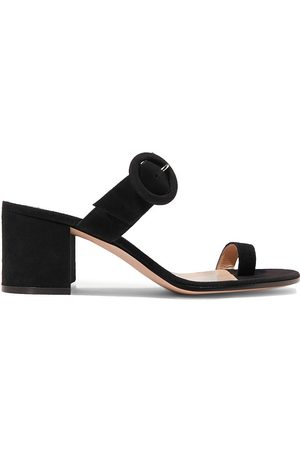 GIANVITO ROSSI Women Heeled Sandals - Woman Suede Sandals Size 34