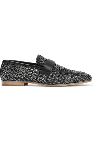 Brunello Cucinelli Woman Bead-embellished Laser-cut Leather Loafers Size 35.5