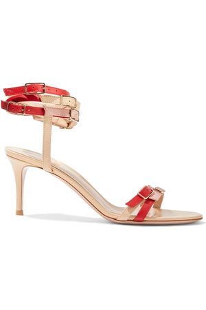 Gianvito Rossi Woman Cassandra Buckled Color-block Leather Sandals Size 34