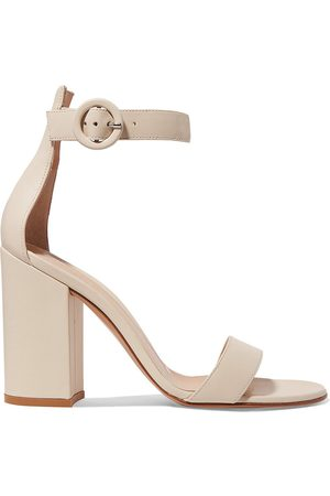 Gianvito Rossi Women Heeled Sandals - Woman Versilia 100 Leather Sandals Off- Size 40.5