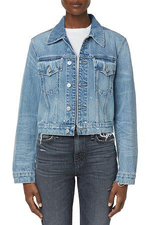 Hudson Women Denim Jackets - Cropped Trucker Denim Jacket