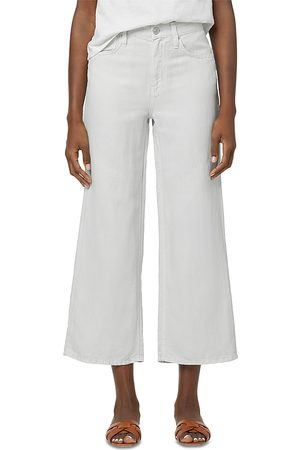 Hudson Rosie High Rise Ankle Wide Leg Jeans in Soft Grey