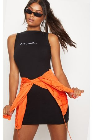 PRETTYLITTLETHING Embroidered Sleeveless Bodycon Dress