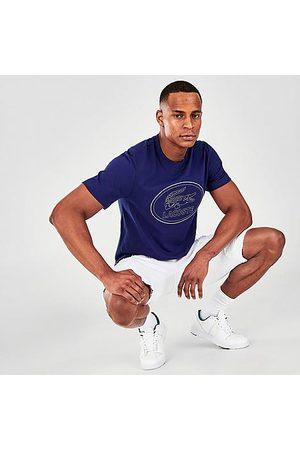 Lacoste Men's Tonal Embroidered Croc Logo T-Shirt Size Small 100% Cotton/Fleece/Jersey
