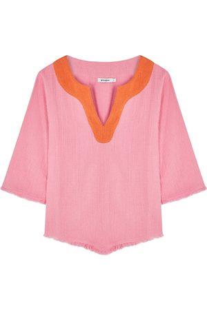 Gimaguas Comporta woven cotton top