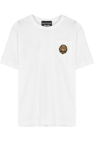 Moschino Appliquéd cotton T-shirt