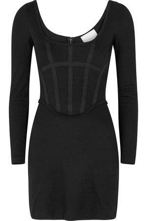 Dion Lee Ribbed jersey corset mini dress