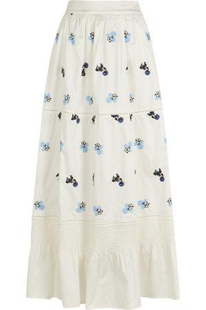 LUG VON SIGA Ornella embroidered cotton maxi skirt