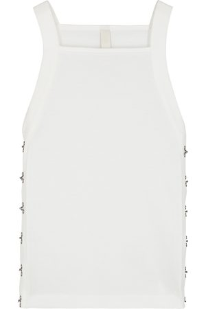 DION LEE Ribbed cotton tank
