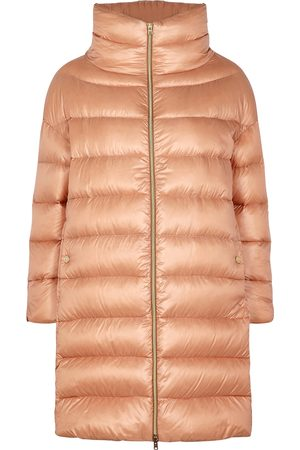 HERNO Ultralite blush quilted shell coat