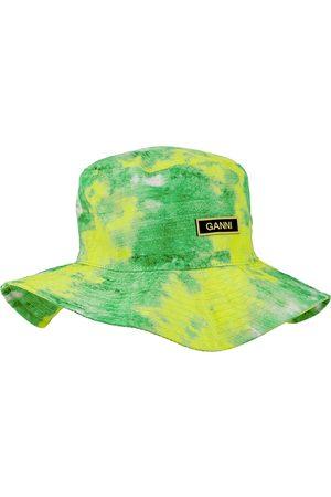 Ganni Printed shell bucket hat