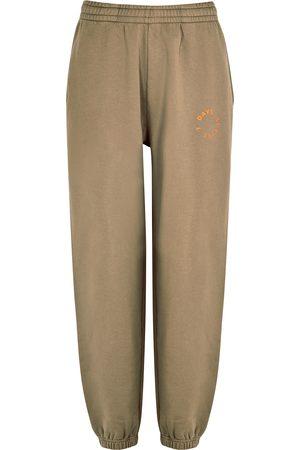 7 DAYS ACTIVE Women Sweatpants - Monday taupe cotton sweatpants