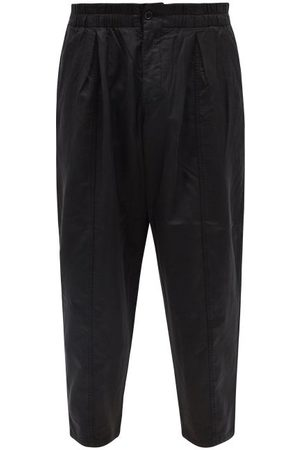 YMC Sylvian Cotton-blend Cropped Relaxed-leg Trousers - Mens