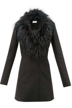 16Arlington Women Party Dresses - Feather-trimmed Crepe Mini Dress - Womens