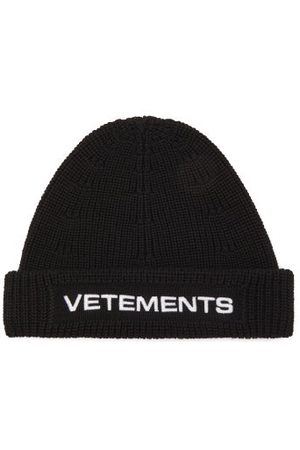 Vetements Logo-embroidered Wool Beanie - Mens